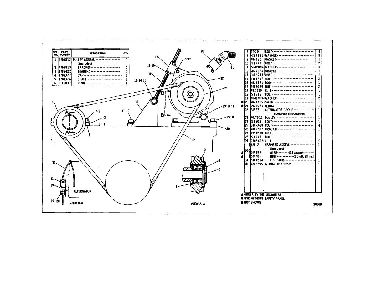 Caterpillar 3208 Alternator Wiring Diagram Trusted Diagrams Industrial Engine Tm 5 3895 349 14 P0206 Gaskets